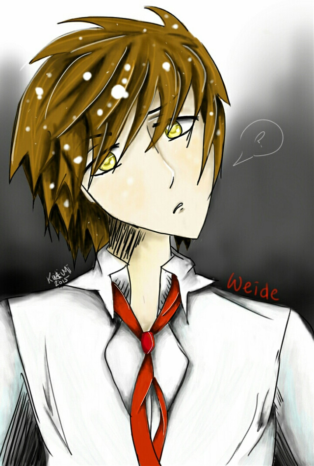 """""""I'm sorry, what?.....""""  My own character Weide. Came up with him a couple months ago, decided to draw him digitally.  Drawn using; phone, stylus, Sketchbook Express X  #art #drawing #digitalart #oc #ArtByKazumi"""