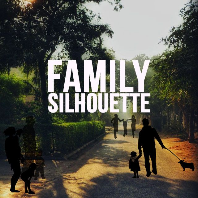 Family Silhouette clipart