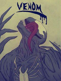 drawing sketch art marvel venom