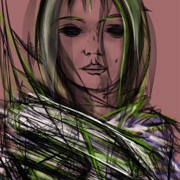 sklon sketch finger art style