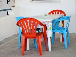 colorful chair photography beach greek