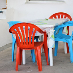 colorful chair photography beach greek