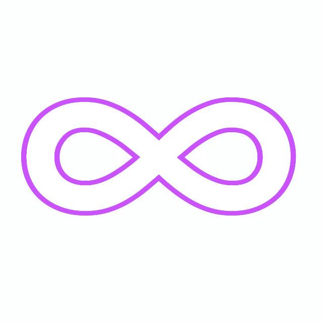 Infinity ∞ #infinity #symbols #random #neonpurple