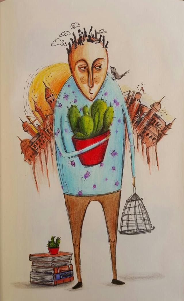#illustration  #pencilart #pencil #art #draw #drawing #design #designer #work  #Sanat  #paint  #painting #mywork  #artwork #color #watercalor #cute  #cactus #istanbul #illust  #sketch #sketchbook  #zaman
