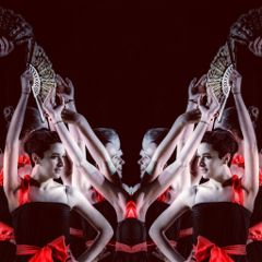 mirrored photography people dance