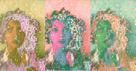 popart pastell pixel mosaic retro