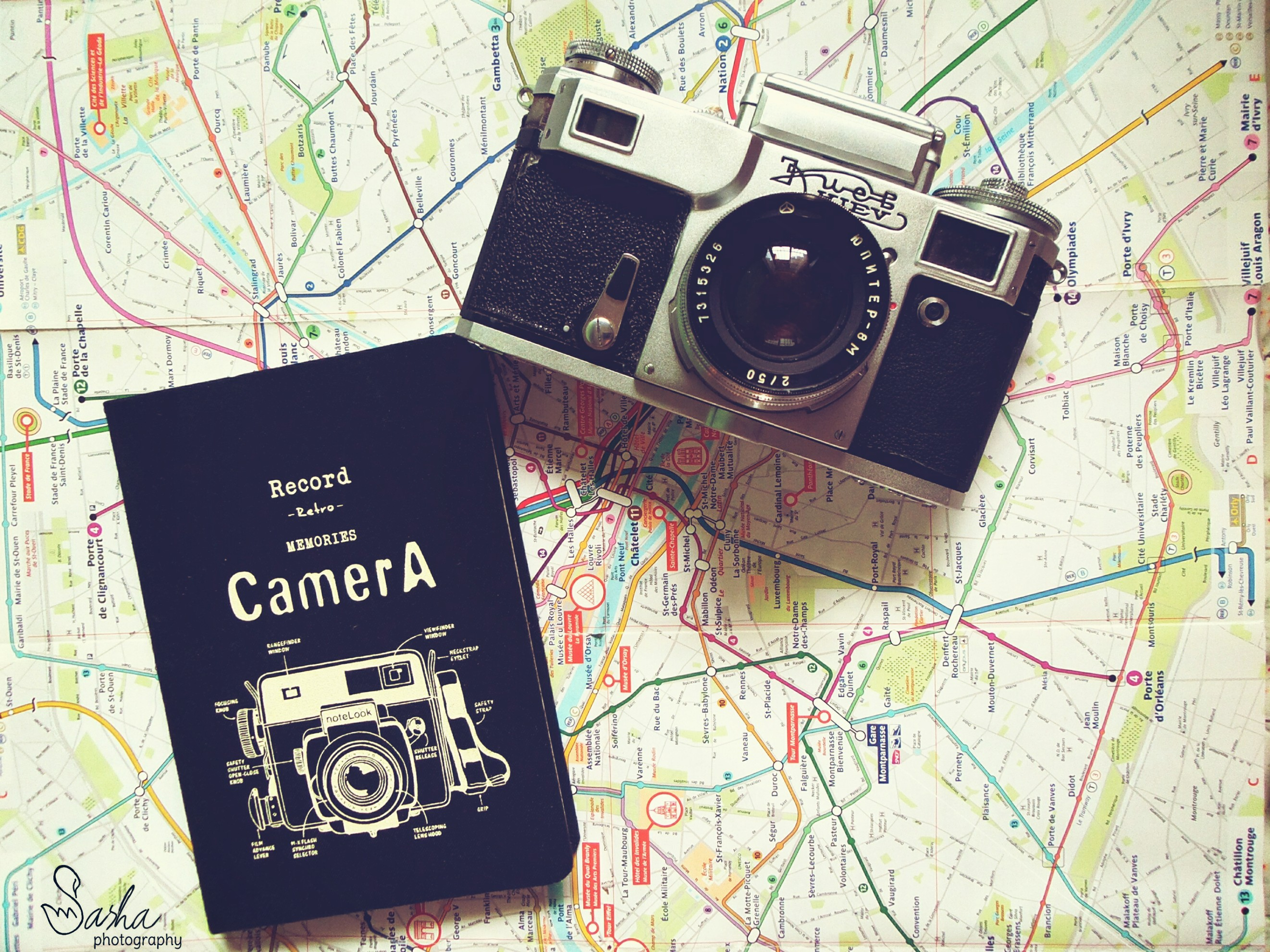 Map Notebook and Camera - Travel Photography by Sashavladimer on PicsArt
