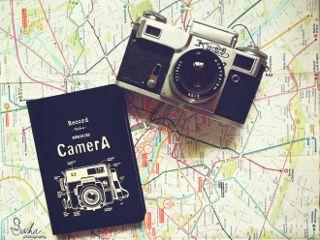 dodger travel camera notebook map