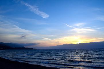 sunset holydays sky sea sun