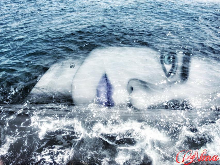 #doubleexposure #digitalmakeup #waves  Pic from @gizemtextures  Selfportrait Me and Sea @gizemkarayavuz