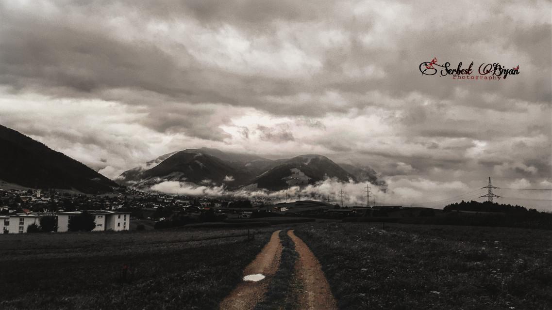 Austria / Axams Galaxy S5   #sepia #vintage #photography #oldphoto #nature #freetoedit #colorsplash #blackandwhite #people #winter #rain #retro #hdr