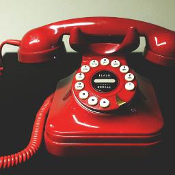 circle red telephone photography retro