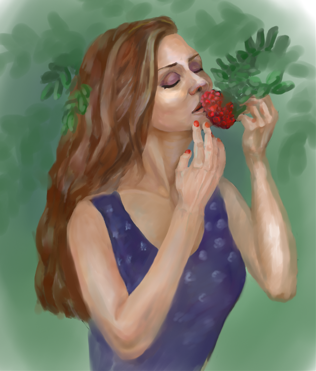 My school friend Angelina @pa #school #autumn #picsart #art  #portrait #girl #friend #computergraphic #paint