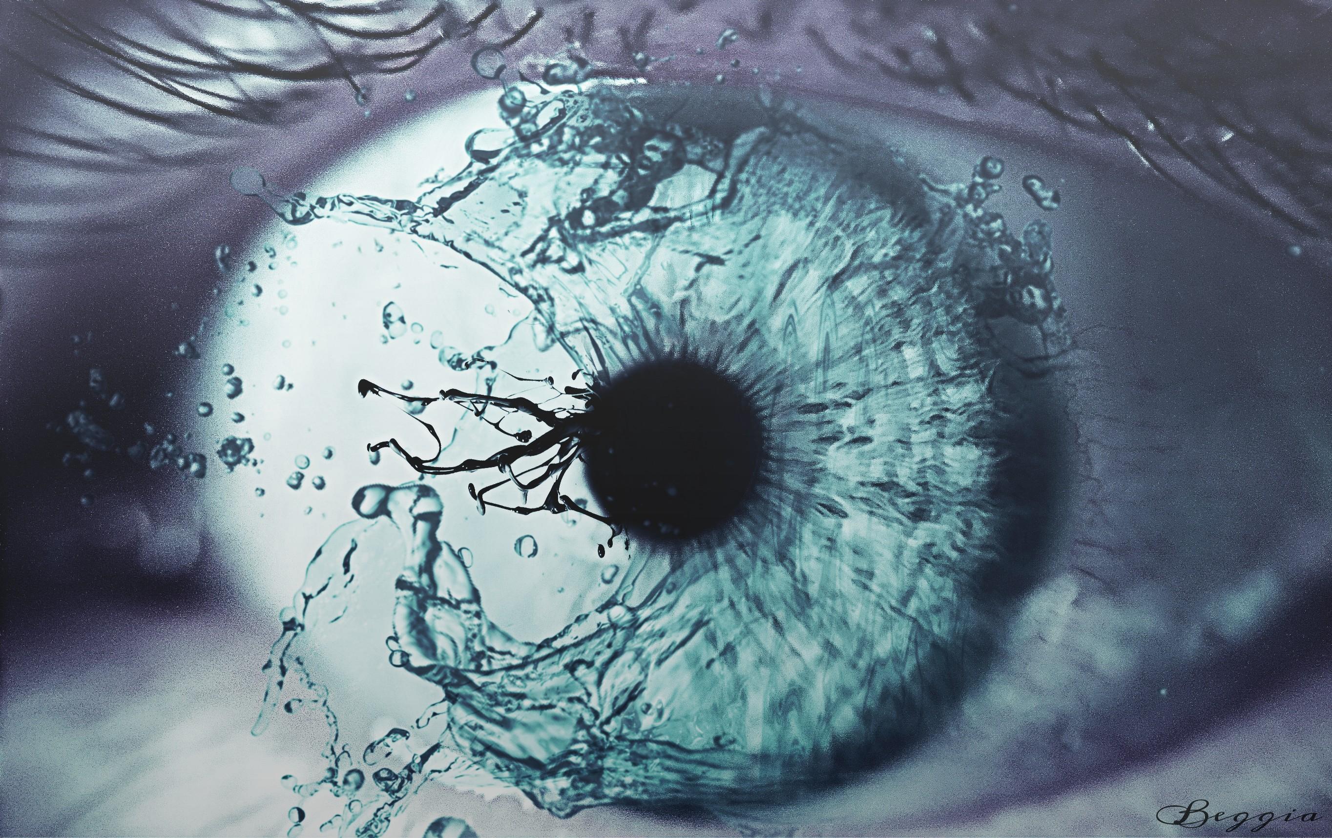 By Beggia Water Splash Eye My Friend S Eye Good Morn
