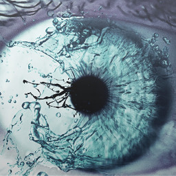 eye water blue colorsplash artistic