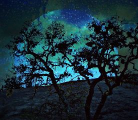 saturated surreal enchantedrock sky blue