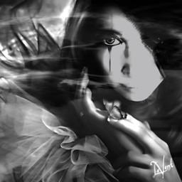 me interesting fantasyart blackandwhite selfportrait