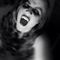 halloween vampire black selfie blur