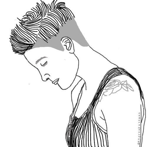 not my best but oh well, first #halsey #outline